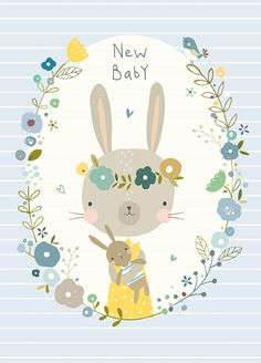 Nikki Upsher 'Postcard New Baby Blue'