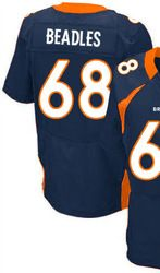 "$78.00--Zane Beadles Blue Elite Jersey - Nike Stitched Men's Denver Broncos #68 Jersey,Free Shipping! Buy it now:click on the picture, than click on ""visit aliexpress.com"" In the new page."