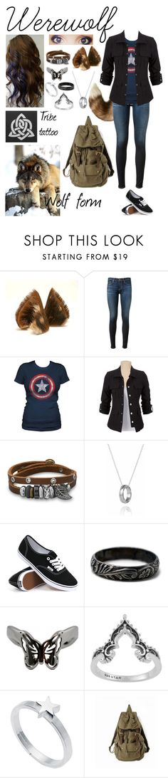 """""""Werewolf OC - normal"""" by seachild41539 ❤ liked on Polyvore featuring Maison Kitsuné, AG Adriano Goldschmied, BillyTheTree, Vans and Edge Only"""
