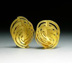 """Whirls"" earrings by Jacqueline Ryan"