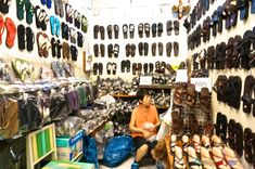 Shopping Chatuchak Market: the Ultimate Photo Guide to Bangkok's Best Market - Souvenir Finder Bangkok Shopping, Bangkok Travel, Thailand Travel, Chatuchak Market, Best Thai, Branded Shirts, Cool Things To Buy, Flip Flops, Asia