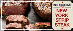 The stakehouse classic introduces the New York strip steak. Juicy Steak, Strip Steak, Fresh, York, Classic, Desserts, Tailgate Desserts, Deserts, Dessert