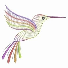 Hummingbirds Designs for Embroidery Machines Funny Embroidery, Hand Embroidery Videos, Embroidery Cards, Hand Embroidery Stitches, Machine Embroidery Patterns, Crewel Embroidery, Cross Stitch Embroidery, Ribbon Embroidery, Fill