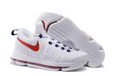"Nike KD 9 ""USA"" White University Red-Race Blue Black 2016 Release 1ef3907c45c0"