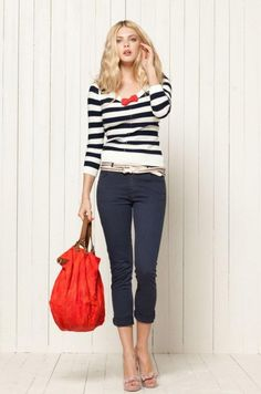 I can't get enough of the summery simple red, white, blue palette with neutrals. LOVE. I might secretly be a sailor.