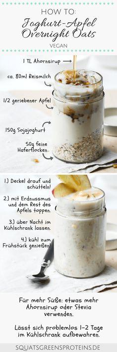 Rezepte für Overnight Oats - Joghurt Apfel Apple Pie Overnight Oats - Gesunde Mealprep Idee Frühstück - Squats, Greens & Proteins (1)