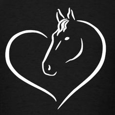 HEART HORSE SHIRT Women's Premium T-Shirt ✓ Unlimited options to combine colours, sizes & styles ✓ Discover T-Shirts by international designers now! Horse Head Drawing, Horse Drawings, Art Drawings, Horse Stencil, Horse Silhouette, Horse T Shirts, Horse Quotes, Horse Art, Pyrography