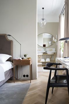 Massucco Warner Miller Interior Design and Decoration Urban Bedroom, Home Bedroom, Bedroom Decor, Master Bedroom, Design Bedroom, Master Suite, Master Bath, Bedroom Ideas, Home Interior