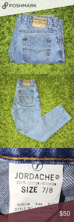 Vintage JORDACHE High Waist Denim Mom Jeans 29 Mint vintage condition. Flat measurements in pics Jordache Jeans Ankle & Cropped