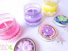 Scented candles home-made (no wax) Candele profumate fatte in casa (no cera) - Diy Candles Scented, Mason Jar Candles, Best Candles, Soy Candles, Candels, Handmade Candle Holders, Handmade Candles, Decorative Candles, Photo Candles