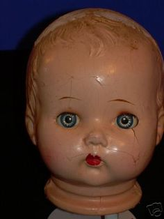 Creepy vintage doll heads...love 'em!
