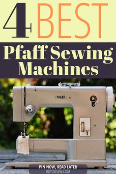 Pfaff sewing machines are among the best on the market. The brand has a long tradition of excellence and a vast number of loyal customers. A couple of brands like Singer and Brother are more prominent, but when it comes to quality I would never bet against the Pfaff. Brands like Bernina, Pfaff, and Viking are in the same league with Singer and Brother. Check out four best Pfaff models money can buy! #sewingmachine #doyousew #sewingmachinereviews #pfaffsewingmachine #pfaffsewing #ilovetosew Sewing Blogs, Easy Sewing Projects, Sewing Projects For Beginners, Sewing Hacks, Sewing Tips, Serger Sewing, Sewing Notions, Sewing Machine Reviews, Sewing Room Organization