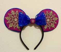 Princess Anna Frozen minnie ears by TwistedWonderland08 on Etsy https://www.etsy.com/listing/223050674/princess-anna-frozen-minnie-ears