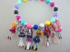 Ever After High Charm Bracelet- Jewelry for Kids, Parties, Gifts