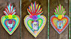 Mexican Tin Folk Art DIY (using simple items from the hardware store) Mexican Crafts, Mexican Folk Art, Mexican Spanish, Mexican Style, Tin Art, Arts And Crafts, Diy Crafts, Thinking Day, Arte Popular
