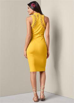0ae8e469f21 RIBBED BACK DETAIL DRESS