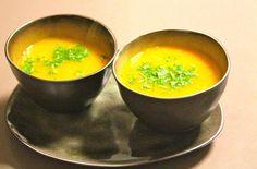 soepje van gele paprika en curry