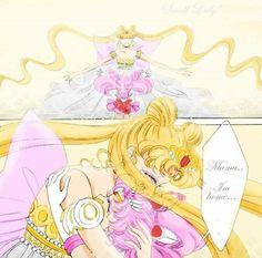 Serenity and piccola lady abbraccio (bunny e chibiusa, bbraccio tra madre e figlia♡)