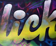 Authentic street art on canvas by urban artist Mr Pilgrim called 'Lick Graffiti'. For more graffiti art, urban art on canvas see my buy art online shop. Graffiti Art For Sale, Graffiti Wall Art, Urban Graffiti, Street Art Graffiti, Best Street Art, Buy Art Online, Original Art For Sale, Stencil Art, Street Artists