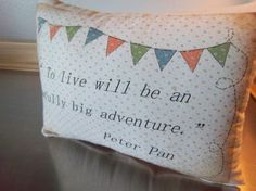 Peter Pan nursery pillow cotton throw pillow whimsical soft cushion adventure home decor