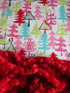Baby Christmas Minky Blanket  32 x 30 Michael by BucciAndBubba, $36.00