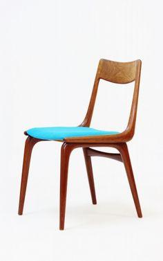 Alfred Christensen; Teak Side Chair for Slagsele Møberlverk, 1950s.
