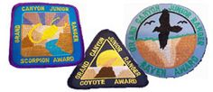 GRAND CANYON'S JR RANGER BADGES - Kids can do this.  Need to get the info from the park first thing, and figure out what program to attend before we go.