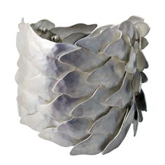 Silver Scales Bracelet | From a unique collection of vintage cuff bracelets at http://www.1stdibs.com/jewelry/bracelets/cuff-bracelets/