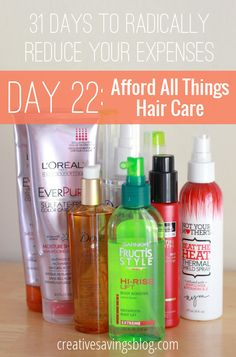 Give yourself a top-notch quality and style experience with these 6 budget beauty basics. They will teach you everything you need to know about saving money on hair care, including how to afford products you use each and every day! {31 Days to Radically Reduce Your Expenses, Day 22}
