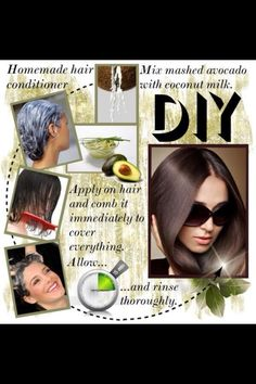 DIY hair conditioner that's easy, cheap, and more healthier and natural for your hair.