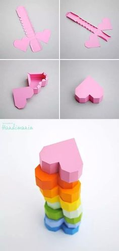 Origami box for kids crafts super Ideas Instruções Origami, Paper Crafts Origami, Diy Paper, Heart Origami, Oragami, Origami Hearts, Origami Envelope, Origami Boxes, Origami Ideas