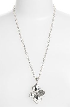 Lagos 'Silver Rocks' Long Statement Pendant Necklace available at #Nordstrom
