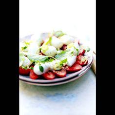 Fraises mozza-basilic