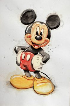 Arte Do Mickey Mouse, Mickey Mouse Drawings, Mickey Mouse Pictures, Cute Disney Drawings, Mickey Mouse Cartoon, Mickey Mouse And Friends, Cartoon Drawings, Minnie Mouse, Mickey Mouse Wallpaper Iphone