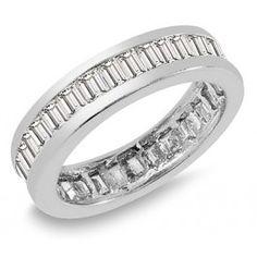 2.00 Carat Women's Diamond Eternity Band Baguette wj2399