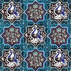 İznik Çinisi Karo - Anikya Mimari Turkish Art, Turkish Tiles, Tile Patterns, Pattern Art, Bicycle Wallpaper, Islamic Tiles, Islamic Art Pattern, Pattern And Decoration, Tile Art