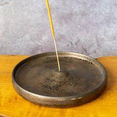 Ceramic Incense Stick Holder / Burner in Metallic Bronze | Etsy Incense Sticks, Different Textures, Metallic, Bronze, Pottery, Ceramics, Etsy, Ceramica, Ceramica