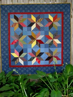 Scrappy Stars from book Remembering Adelia by Kathleen Tracy http://www.countrylanequilts.com/