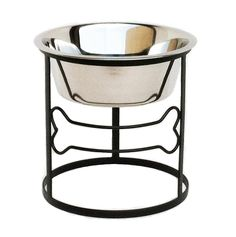 Bone Single Diner - Elevated Pet Bowl - 10' Tall ^^ Unbelievable dog item right here! : Feeding and Watering Supplies