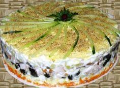 Новогодний салат 12 месяцев. Рецепт приготовления (вкусный)