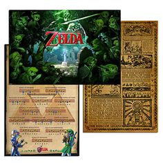 The Legend of Zelda is a brilliant game series and has spawned many gorgeous posters. Three different posters for decorating up to three different walls!