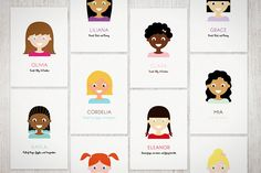 Personalized Illustrated Girl - Art Print (a designer of free printables allows you to create custom portraits of your own kids for download. So cool!)