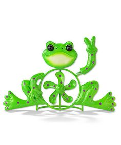 Green Peace Frog Spinner Statue