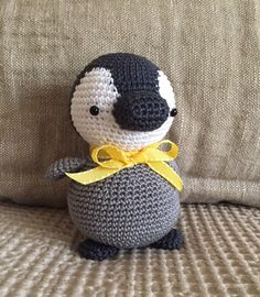 Pippin the penguin. Pattern by Little Muggles. Handmade by Mica Crochet