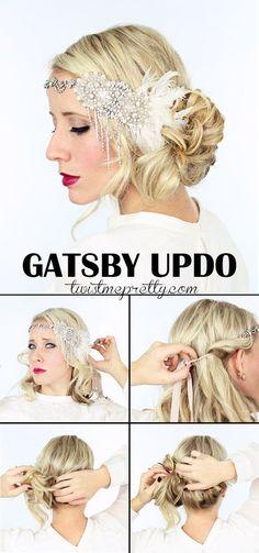 Flapper Girls, Flapper Girl Costumes, Gatsby Costume, Gatsby Dress, Flapper Pie, Diy Hairstyles, Wedding Hairstyles, Flapper Hairstyles, Gorgeous Hairstyles