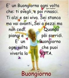 Italian Phrases, Italian Quotes, Italian Greetings, Messages, Good Morning, Positivity, Baseball Cards, Humor, Calcutta