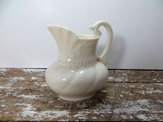 This milky white Lenox Creamer is the perfect little treasure to add some charm to your tabletop. I have used it filled with gravy during