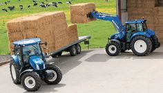 New Holland T6 on the left and T5 on the right.