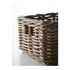 BYHOLMA Basket, grey grey 25x29x15 cm $9.99