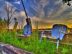Rusted Chairs & Sky @ Rye New Hampshire
